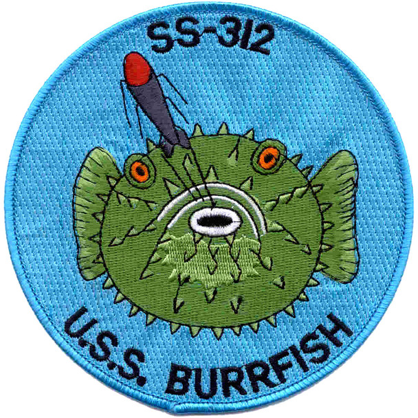 USS Burrfish SS-312 Diesel Electric Submarine Small Patch