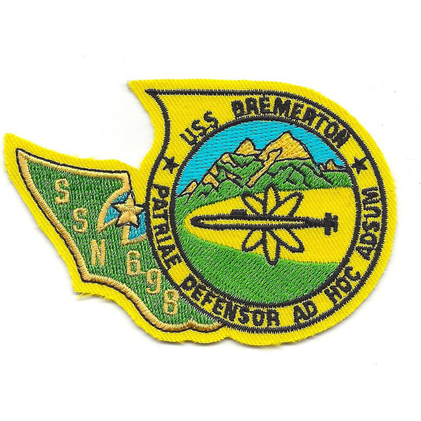 USS Bremerton SSN 698 Nuclear Attack Submarine Small Patch