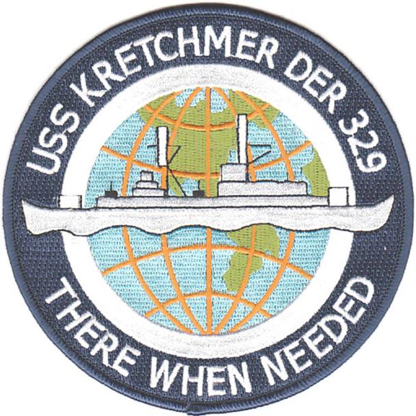 USS Kretchmer DER-329 Patch