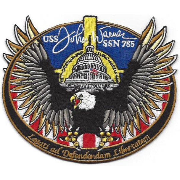 USS John Warner SSN-785 Nuclear Fast Attack Submarine Second Version Patch