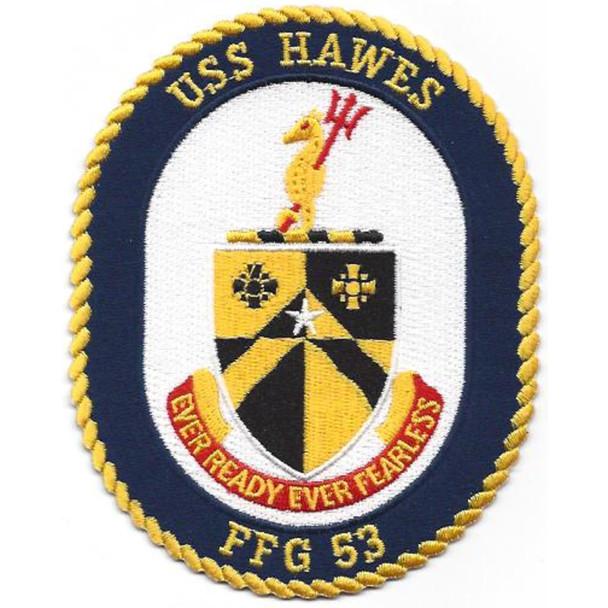 USS Hawes FFG-53 Frigate Ship Patch