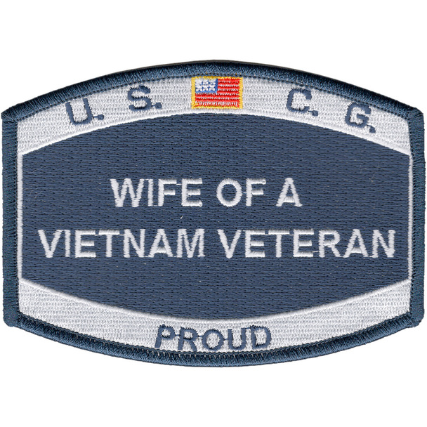 USCG Wife Of A Vietnam Veteran Patch