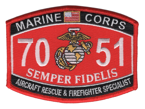 7051 Aircraft Rescue & Firefighter Specialist Patch