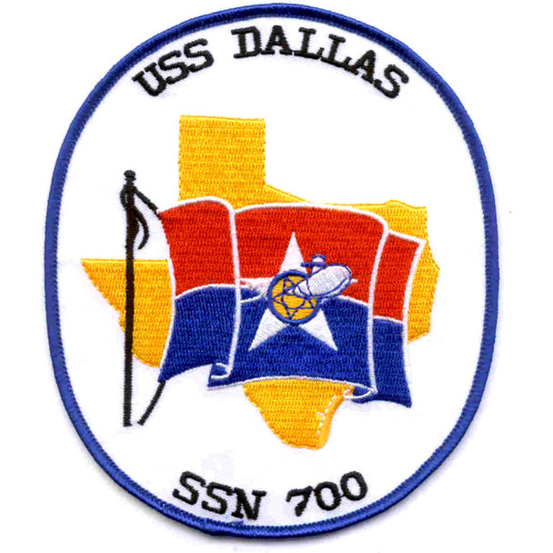 USS Dallas SSN-700  Nuclear Powered Attack Submarine Patch
