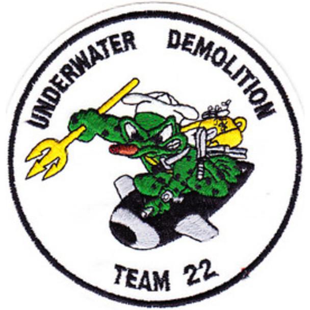 UDT 22 Underwater Demolition Team Unit Twenty Two Patch