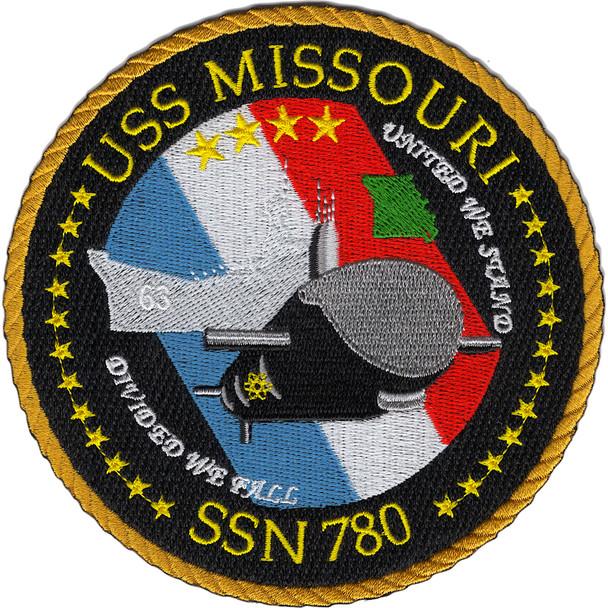 SSN-780 USS Missouri Patch