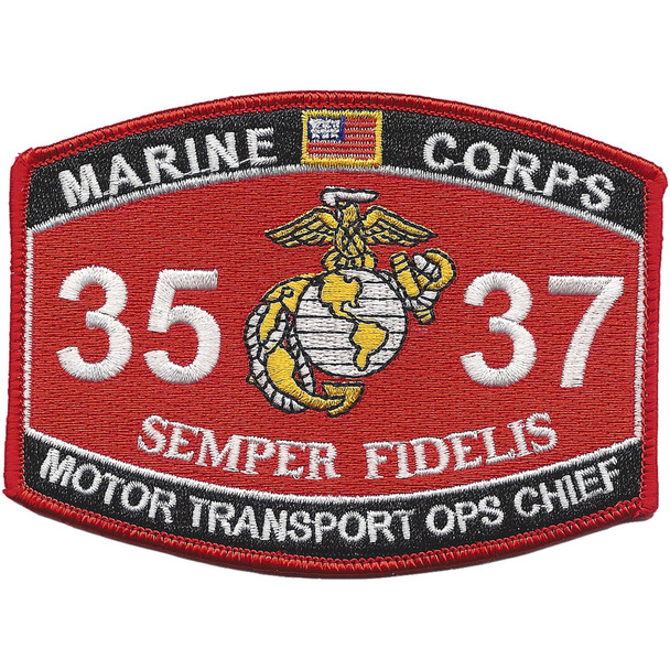 3537 Motor Transport Ops Chief MOS Patch