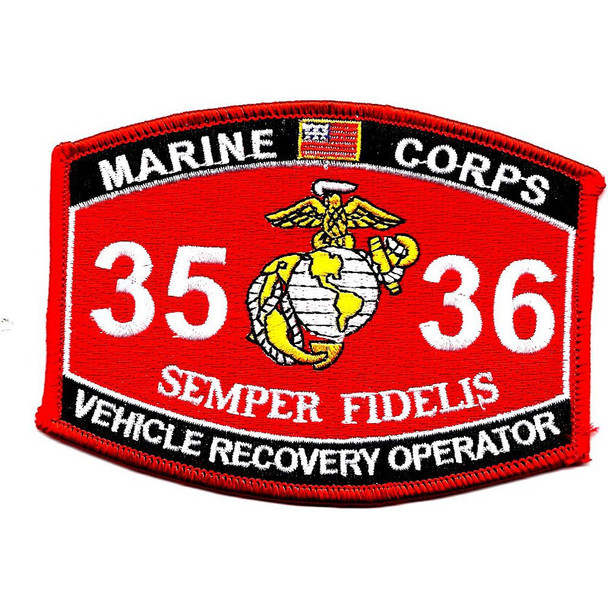 3536 Vehicle Recovery Operator MOS Patch