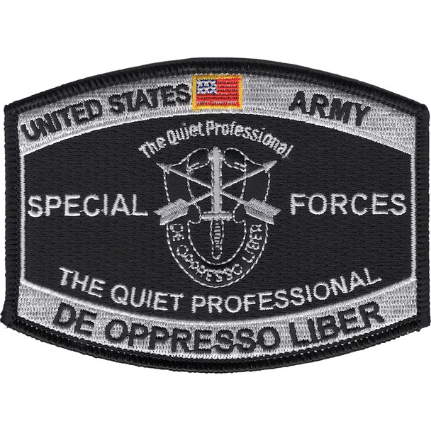 Special Forces Military Occupational Specialty MOS Patch De Oppresso Liber