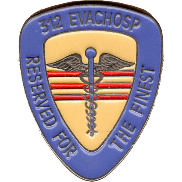 312 Evachosp Medical Evacuation Hospital Pin