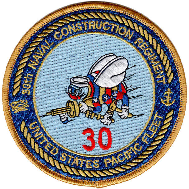 30th Naval Construction Regiment Patch United States Pacific Fleet