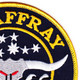 MSO-511 USS Affray Mine Sweeper - Ocean Ship Patch | Upper Right Quadrant