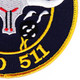 MSO-511 USS Affray Mine Sweeper - Ocean Ship Patch | Lower Right Quadrant