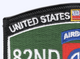 82nd Airborne Division MOS Patch | Upper Left Quadrant