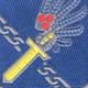 188th Airborne Infantry Regiment Patch   Center Detail