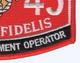 1345 Engineer Equipment Operator MOS Patch | Lower Right Quadrant