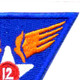 12th Air Force Shoulder Patch | Upper Right Quadrant