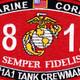 1812 M1A1 Tank Crewman MOS Patch | Center Detail