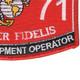 1171 Hygiene Equipment Operator MOS Patch | Lower Right Quadrant