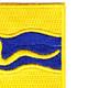 116th Cavalry Regiment Patch | Upper Right Quadrant