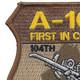 104th Expeditionary Flight Sqadron A-10C Operation Iraqi Freedom Patch | Upper Left Quadrant