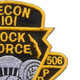 101st Division 506th Airborne Infantry Regiment 3rd Battalion Patch | Upper Right Quadrant