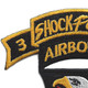 101st Airborne Division 506th Airborne Infantry Regiment 3nd Battalion Shock Force Patch | Upper Left Quadrant