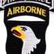 101st Airborne Division 506th Aiborne Infantry Regiment 3rd Battalion Shock Force Patch   Center Detail