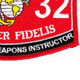 0932 Small Arms Weapons Instructor MOS Patch | Lower Right Quadrant