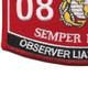 0861 Observer Liasion Man MOS Patch | Lower Left Quadrant
