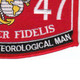 0847 Artillery Meteorological Man MOS Patch | Lower Right Quadrant