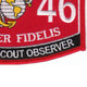 0846 Artillery Scout Observer MOS Patch | Lower Right Quadrant