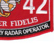 0842 Field Artillery Radar Operator MOS Patch | Lower Right Quadrant
