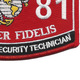 0681 MOS Information Security Technician Patch | Lower Right Quadrant
