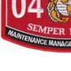 0411 Maintenance Management Specialist MOS Patch | Lower Left Quadrant