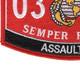 0351 Assaultman MOS Patch | Lower Left Quadrant