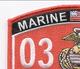 0331 Machine Gunner MOS Patch   Upper Left Quadrant