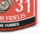 0331 Machine Gunner MOS Patch   Lower Right Quadrant