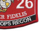 0326 Special Ops Recon MOS Patch | Lower Right Quadrant