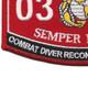 0324 Combat Diver Reconnaissance Man MOS Patch | Lower Left Quadrant