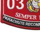 0323 Parachute Reconnaissance Man MOS Patch | Lower Left Quadrant