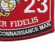 0323 Parachute Reconnaissance Man MOS Patch | Lower Right Quadrant