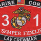0313 Light Armored Vehicle (LAV) Crewman MOS Patch | Center Detail
