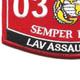 0312 Light Armored Vehicle Assaultman Patch | Lower Left Quadrant