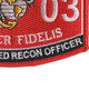 0303 Light Armored Recon Officer MOS Patch | Lower Right Quadrant