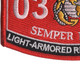 0303 Light Armored Recon Officer MOS Patch | Lower Left Quadrant