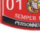 0121 Personnel Clerk MOS Patch   Lower Left Quadrant