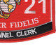 0121 Personnel Clerk MOS Patch   Lower Right Quadrant
