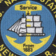 Newport Naval Station Rhode Island Patch | Center Detail