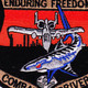 Fairchild Republic A-10 Thunderbolt II Patch Enduring Freedom   Center Detail
